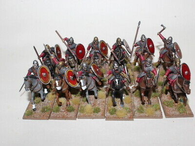 Gripping beast 28mm Ancient - Late Roman Heavy Cavalry - Nicely Painted