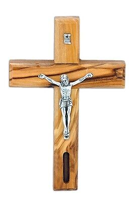 "New Christian Wall Handmade Cross of Olive Wood from Holy Jerusalem 5.5""/14cm"