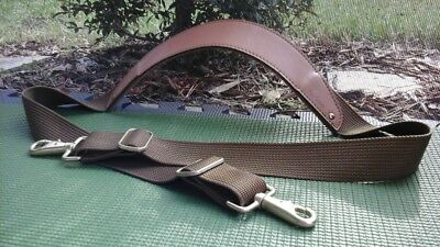 HARTMANN Tan Leather & Nylon Replacement Shoulder Strap Luggage Carry On Bag