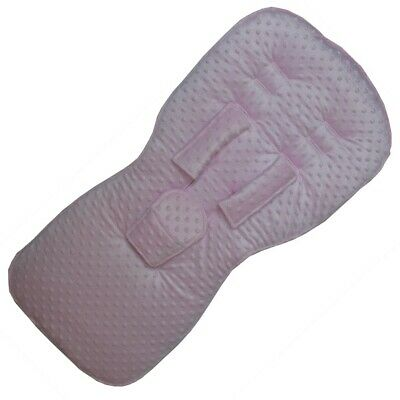 Pink Dimple Fleece Seat Liner & Harness Pad set to fit SX Reflex pushchairs