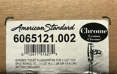 American Standard chrome 6065121.002 exposed Selectronic Battery Toilet 1.28 gpf