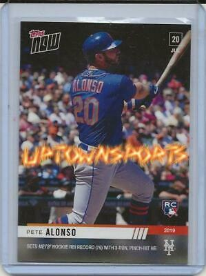 2019 Topps Now Pete Alonso RC #541 Sets Mets Rookie RBI Record with Pinch-Hit HR