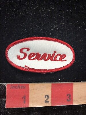 Slightly Puckered Red On White SERVICE Patch 00MP