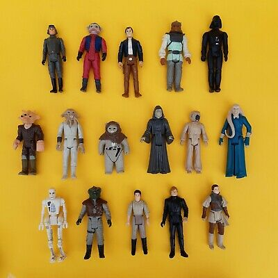 Vintage Star Wars Job Lot/Bundle 16 Figures ROTJ - Mixed/Used/Good Condition