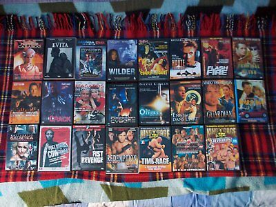 Lot de 23 dvd film action aventure drame king cage evita wilder cyborg ect...