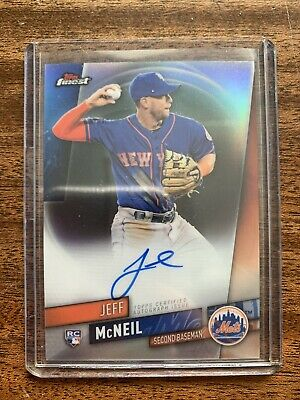 2019 Topps Finest Jeff McNeil Rookie On Card Autograph Refractor SP Mets RC Auto