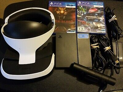 Sony PlayStation VR Headset (PS4) W/ Game
