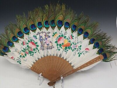 Antique Chinese Peacock Feather Fan.
