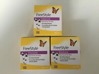 100 FreeStyle Insulinx Diabetic Test Strips EXP 01/31/2020  (1X100Ct) Ships FREE