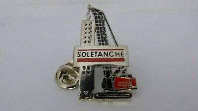 RARE Pin's Pin Pins Badge  SOLETANCHE / FORAGE BTP / DRILLING TOP !