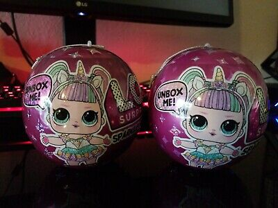 LOL Surprise! SPARKLE Series Doll Bling Glitter Ball Sparkles NEW Set Of Two (2)