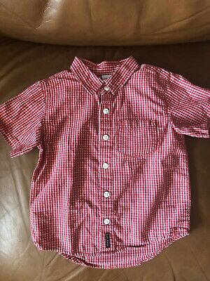 Boy's Old Navy Plaid Short Sleeve Button Front Shirt -Size 2T!