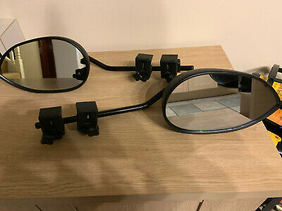 **Pair Milenco Aero Mk 3 Mirrors, Flat Glass**