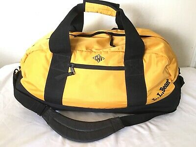 "L. L Bean Adventures Yellow Travel Wheeled Duffle Camping Shoulder Strap 22"" Bag"