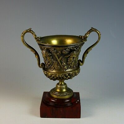Bronze Napoleon III Repousse Two Handled Coupe or Cup