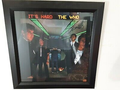"""THE WHO """"IT'S HARD"""" Autographed Album with JOHN ENTWISTLE, TOWNSHEND and DALTRY!"""
