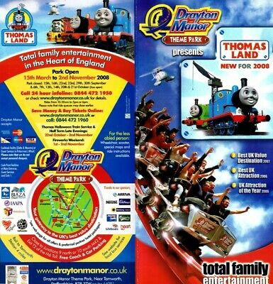 Drayton Manor Theme Park, Promo leaflets and maps from 2008,2009,2010, and 2011.