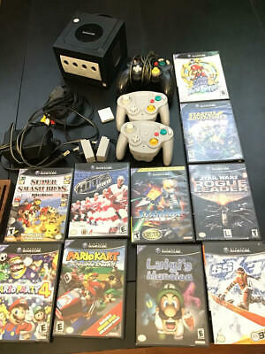 Nintendo Gamecube Black System Console W Accessories & Games Lot