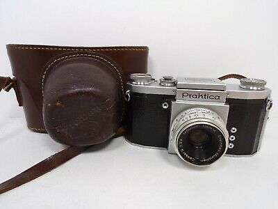 Vintage Praktica 35mm Film Camera Germany Includes Original Leather Case