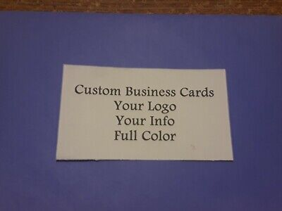 Custom Full Color Business Cards 500 Cards Free Shipping