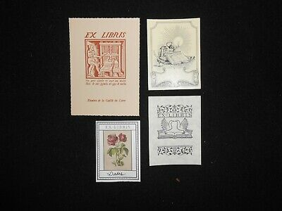 4 different ex libris