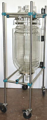 H-W-S 50 Liter Tripple Wall Borisilicate 3.3 Glass Chemical Lab Reactor Stirring