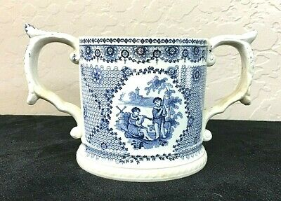 Rare Antique British Chelsea Loving Cup from the late 1700's to early 1800's.