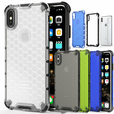 Slim Rugged Rubber Hybrid Armor Case Cover for iPhone 6s 7 8 Plus X XS Max Shell