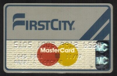 First City MasterCard Credit Card Exp 11/87