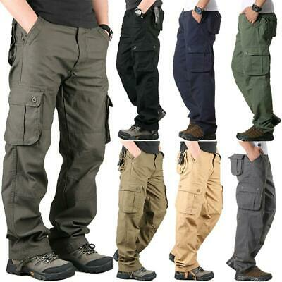15f6e0d0a0c2 Men Military Army Combat Trousers Work Cargo Pants Casual Walking Multi  Pocket 0