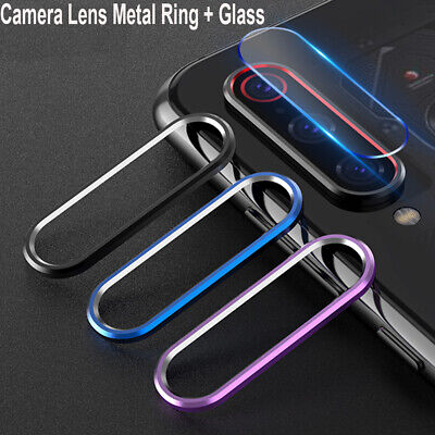 For Xiaomi Redmi Note 7 Camera Lens Protector Case Metal Ring Cover+Glass Film B