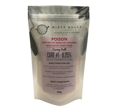 Misty Gully Curing Salt - Cure #1 - 500g -  Prague Powder #1 - 6.25% Nitrite