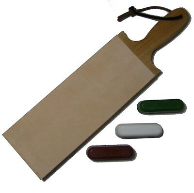 Leather Strop Handcrafted In The USA - Large 3 Inch Wide with Compound