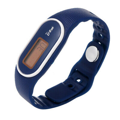 Digital LCD Silicone Pedometer Run Step Walking Distance Calorie Counter R0G9