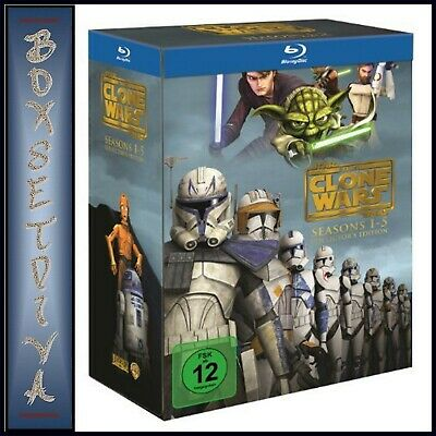Star Wars The Clone Wars  Complete Series  1 2 3 4 5 Region Free Blu-Ray Boxset