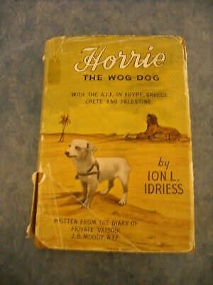 Vintage Ion Idriess Horrie The Wog Dog Wwii Egyptian Terrier Australian Army Aif