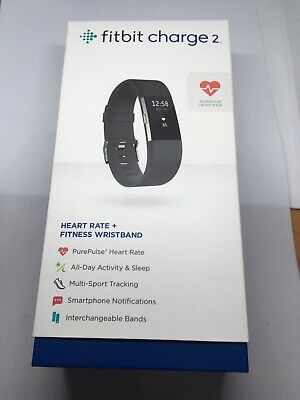 Fitbit Charge 2 Heart Rate Fitness Tracker Wristband Black FB407BKL Like New!