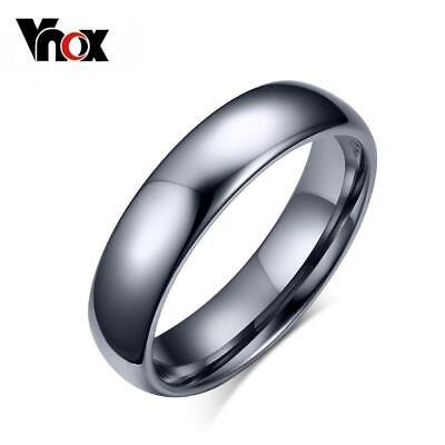 Vnox Tungsten Ring for Women Men 4mm/6mm Original Color Classic Wedding Jewelry