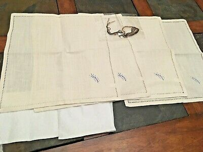 Herrschners Napkins ~ Embroidery ~ Set of 4 New   Pine Sprig in brown and black