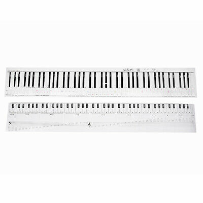 1x Colorful Music Keyboard Piano Stickers For 88-KEY Piano Beginner Removable