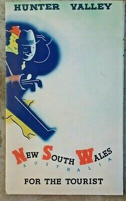 Vintage 1940 Tourist Guide brochure Hunter Valley NSW Poster Henry J. Weston