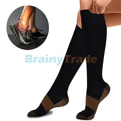 (7 Pairs) Compression X Socks Knee High 20-30mmHg Graduated Mens Womens S-XXXL