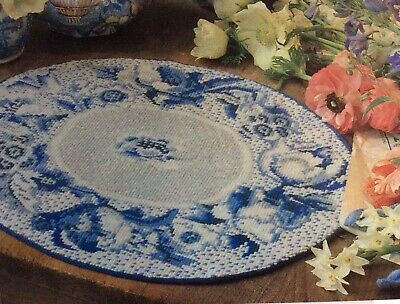 Ehrman Delft Table Mats PAPER Pattern CHART ONLY to make Needlepoint tapestry