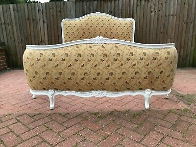 Antique French Demi Corbielle (Corbeille) Double Bed Frame Louis XV Style