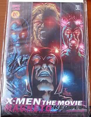 DF X-MEN THE MOVIE MAGNETO MARVEL certified autograph signed by Stan Lee COA..