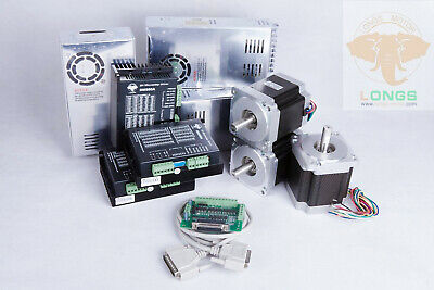 3Axis NEMA34 1090oz.in 4A 34HS9840 86BYGH Driver DM860A CNC Kit Machine LONGS