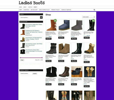 Ladies Boots Store Website With UK Affiliate & 1 Years Hosting