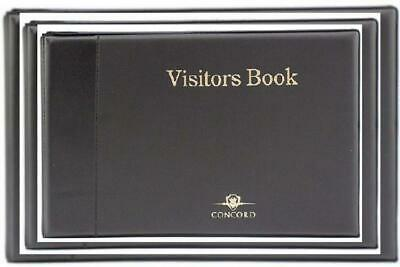 Concord 85710/CD14 Visitors Book Binder with 50 Sheets 2000 Entries 1, Black