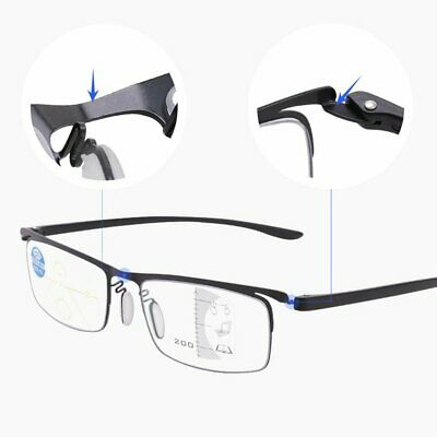 Progressive multi-focus metal solderless point automatic zoom reading glasses ND