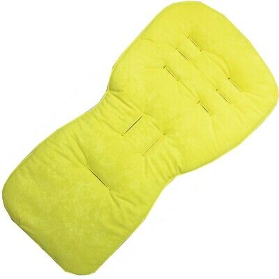 Bright Yellow Seat Liners for Silver Cross Pursuit Pushchairs